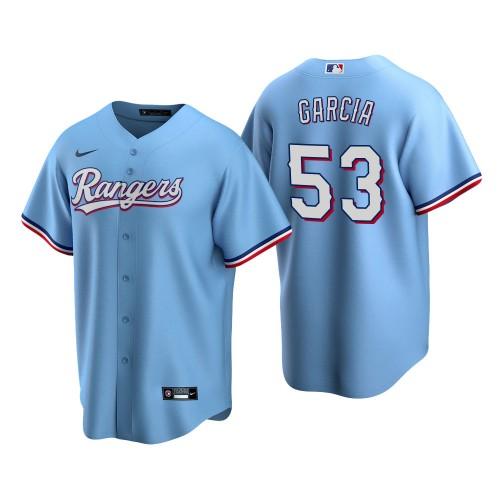 Men's Texas Rangers Adolis Garcia Light Blue Replica Alternate Jersey