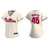 Zack Wheeler Phillies Cream Replica Alternate Women's Jersey