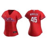 Zack Wheeler Phillies Red Replica Alternate Women's Jersey