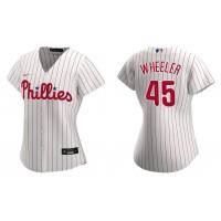 Zack Wheeler Phillies White Replica Home Women's Jersey