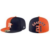 Zack Greinke Houston Astros Orange Navy Split 59FIFTY Hat