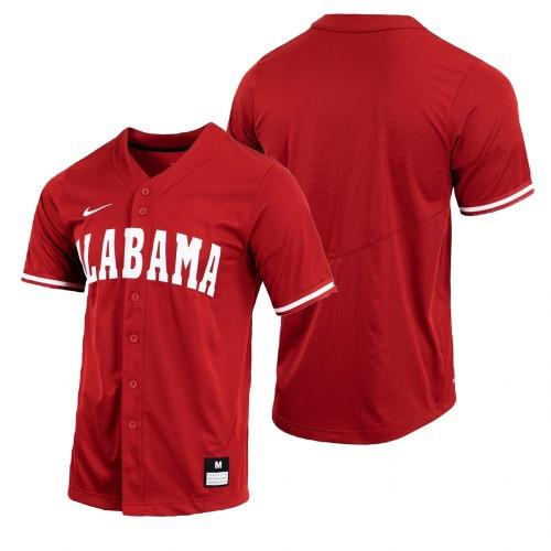 Alabama Crimson Tide Crimson Baseball Jersey