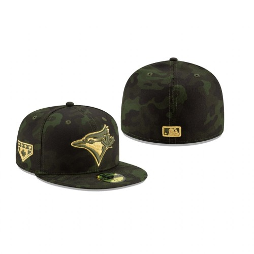 2019 Armed Forces Day Blue Jays 59FIFTY Fitted Camo Hat