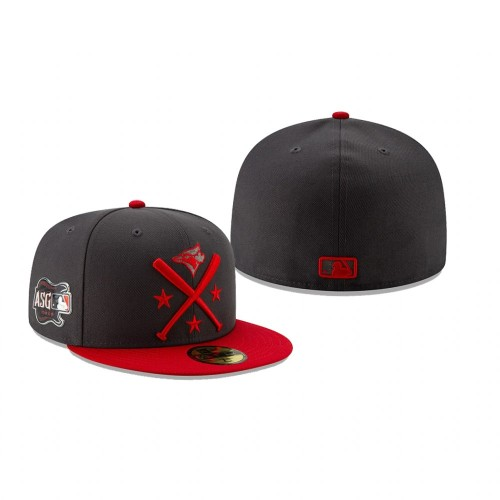 2019 MLB All-Star Workout Toronto Blue Jays 59FIFTY Graphite Red Hat