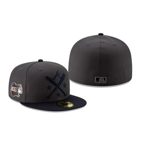 2019 MLB All-Star Workout Atlanta Braves 59FIFTY Graphite Navy Hat
