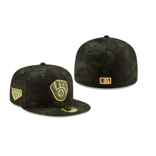 2019 Armed Forces Day Brewers 59FIFTY Fitted Camo Hat