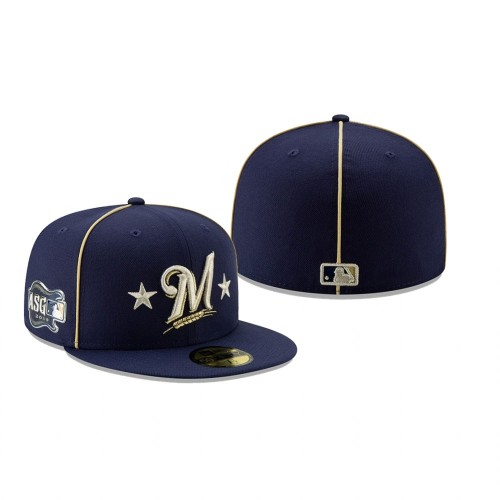 2019 MLB All-Star Game Milwaukee Brewers 59FIFTY Navy Hat