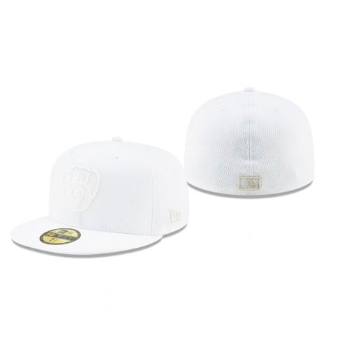 2019 Players' Weekend Brewers White On-Field 59FIFTY Fitted Hat