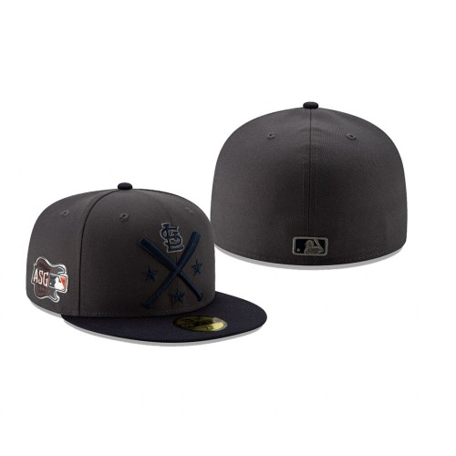 2019 MLB All-Star Workout St. Louis Cardinals 59FIFTY Graphite Navy Hat