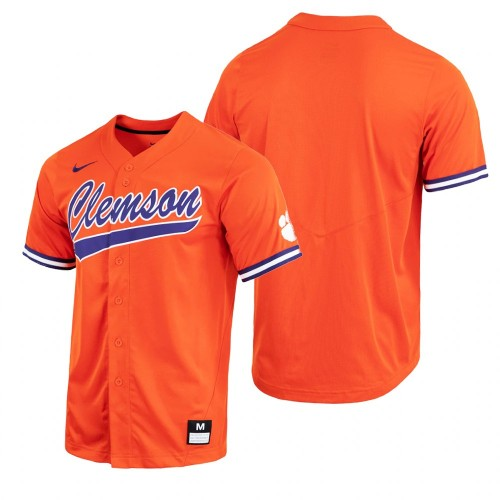 Clemson Tigers Orange Baseball Jersey