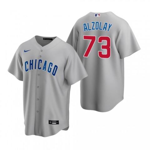 Adbert Alzolay Chicago Cubs Gray Replica Road Jersey