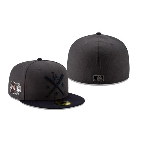 2019 MLB All-Star Workout Los Angeles Dodgers 59FIFTY Graphite Navy Hat