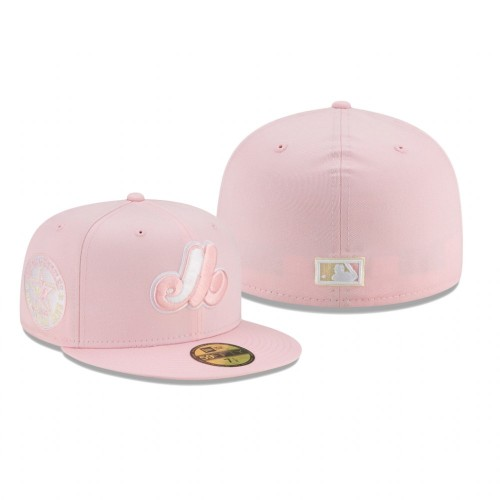 Expos Floral Under Visor 59Fifty Pink Light Yellow Hat