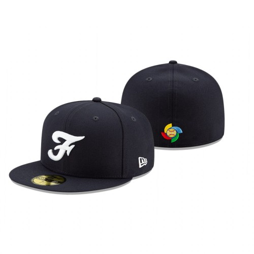 France 2021 World Baseball Classic Qualifier Navy 59FIFTY Fitted Hat
