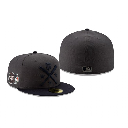 2019 MLB All-Star Workout San Francisco Giants 59FIFTY Graphite Navy Hat