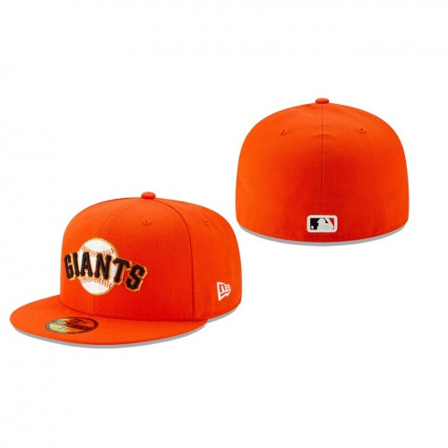 2019 MLB Little League Classic Giants New Era Orange 59FIFTY Fitted Hat