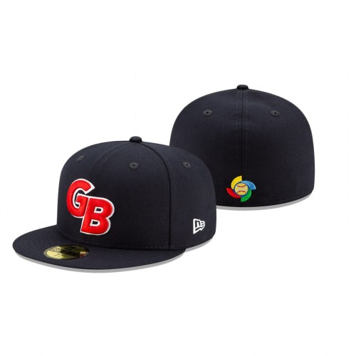 Great Britain 2021 World Baseball Classic Qualifier Navy 59FIFTY Fitted Hat