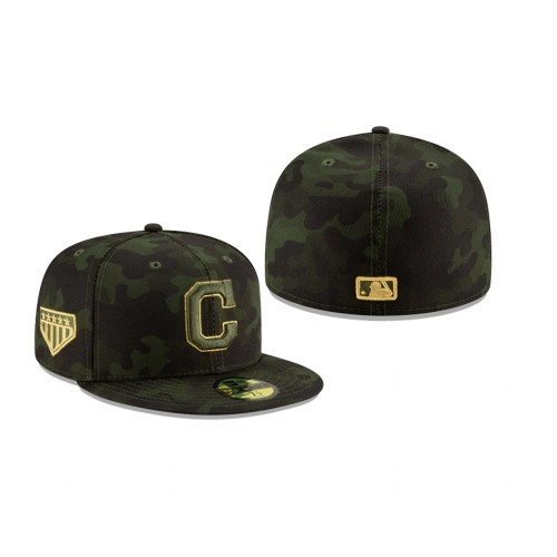 2019 Armed Forces Day Indians 59FIFTY Fitted Camo Hat
