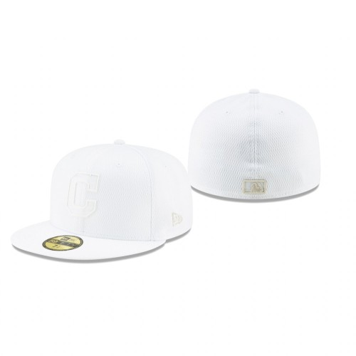 2019 Players' Weekend Indians White On-Field 59FIFTY Fitted Hat