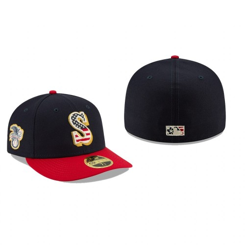 2019 Independence Day Mariners Low Profile 59FIFTY Stars & Stripes Hat