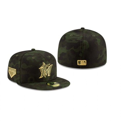 2019 Armed Forces Day Marlins 59FIFTY Fitted Camo Hat