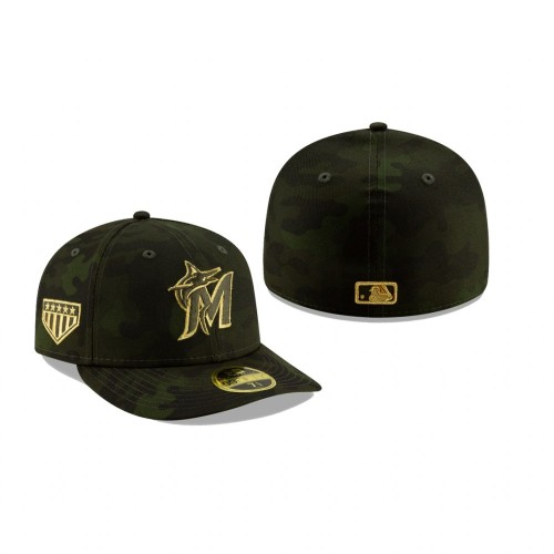 2019 Armed Forces Day Marlins Low Profile 59FIFTY Camo Hat