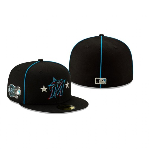 2019 MLB All-Star Game Miami Marlins 59FIFTY Black Hat
