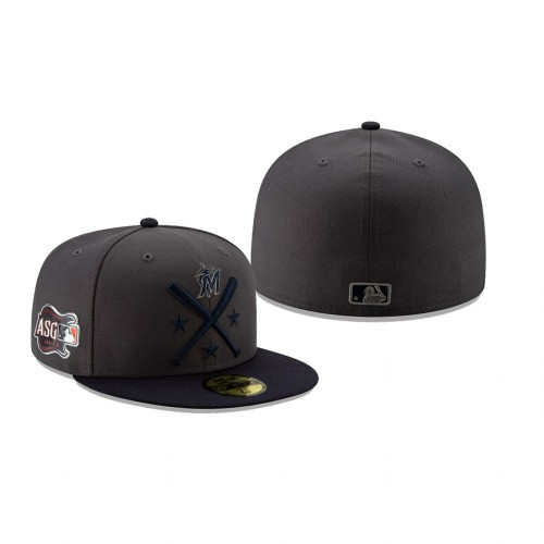 2019 MLB All-Star Workout Miami Marlins 59FIFTY Graphite Navy Hat