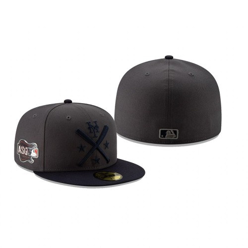 2019 MLB All-Star Workout New York Mets 59FIFTY Graphite Navy Hat