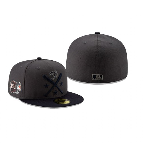 2019 MLB All-Star Workout Washington Nationals 59FIFTY Graphite Navy Hat