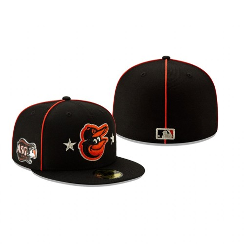 2019 MLB All-Star Game Baltimore Orioles 59FIFTY Black Hat