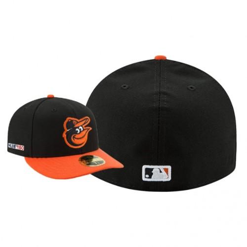 MLB 150th Anniversary Patch Orioles Black Orange Hat