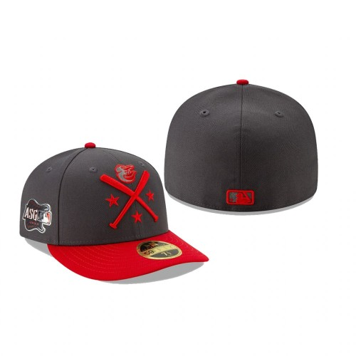 Baltimore Orioles 2019 MLB All-Star Workout Low Profile 59FIFTY Graphite Red Hat