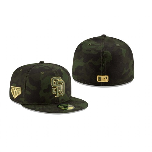 2019 Armed Forces Day Padres 59FIFTY Fitted Camo Hat