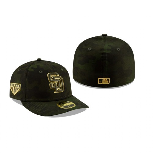 2019 Armed Forces Day Padres Low Profile 59FIFTY Camo Hat