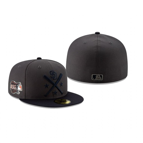 2019 MLB All-Star Workout San Diego Padres 59FIFTY Graphite Navy Hat