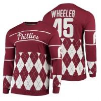Zack Wheeler Phillies Red 2021 Christmas Sweater
