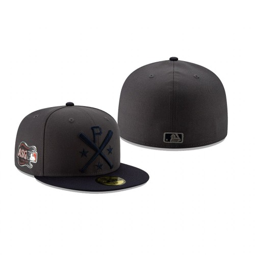 2019 MLB All-Star Workout Pittsburgh Pirates 59FIFTY Graphite Navy Hat