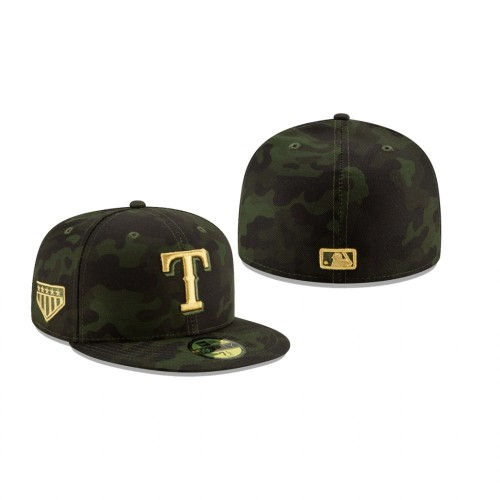 2019 Armed Forces Day Rangers 59FIFTY Fitted Camo Hat