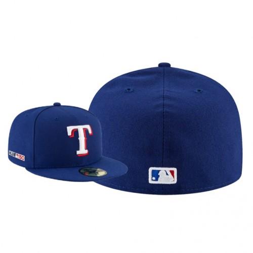 MLB 150th Anniversary Patch Rangers Royal Hat