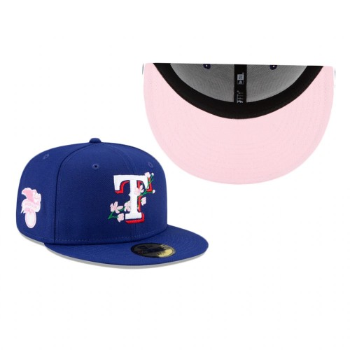 Rangers Side Patch Bloom 59FIFTY Fitted Royal Hat