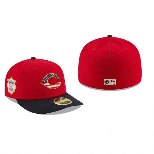 2019 Independence Day Reds Low Profile 59FIFTY Stars & Stripes Hat
