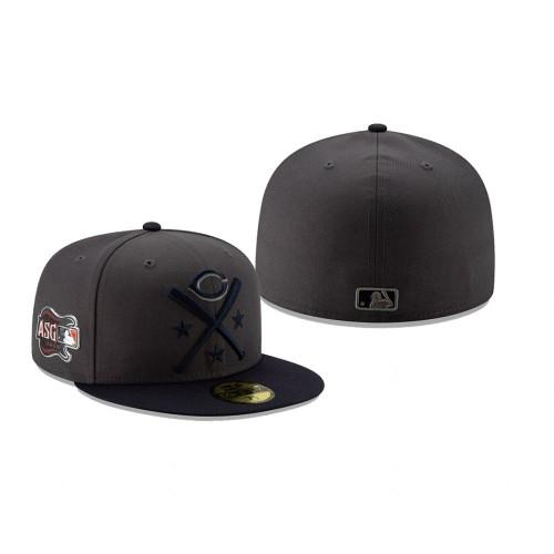 2019 MLB All-Star Workout Cincinnati Reds 59FIFTY Graphite Navy Hat