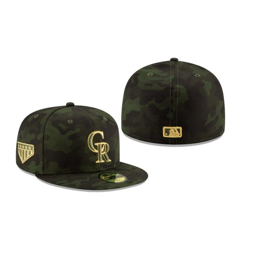 2019 Armed Forces Day Rockies 59FIFTY Fitted Camo Hat