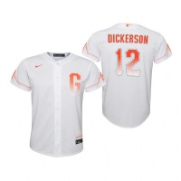 Youth San Francisco Giants Alex Dickerson White 2021 City Connect Replica Jersey